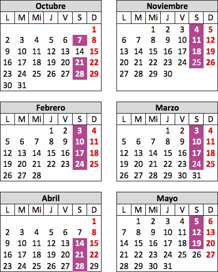 Calendario de teatro en inglés para jóvenes y adultos