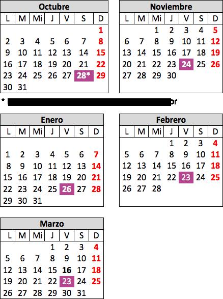 Calendario de Cine Forum en inglés para jóvenes y adultos