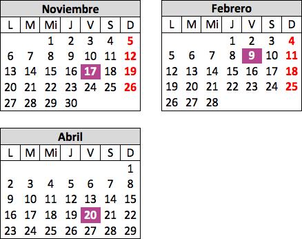 Calendario de Mystery Nights en inglés para jóvenes y adultos
